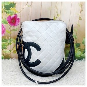 Authentic Chanel Cambon Line Crossbody Bag